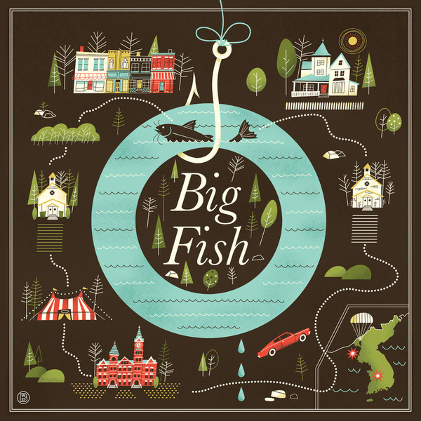 Alternative movie poster for big fish by brad woodard for Big fish the movie
