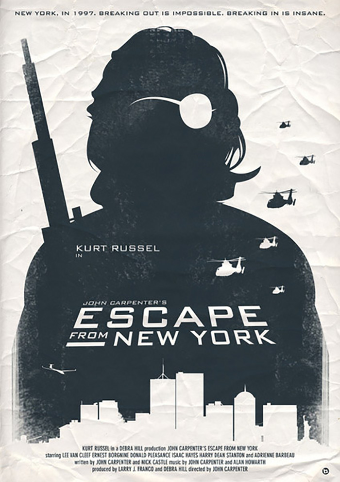Escape From New York Poster.Alternative Movie Poster For Escape From New York By Alain Bossuyt