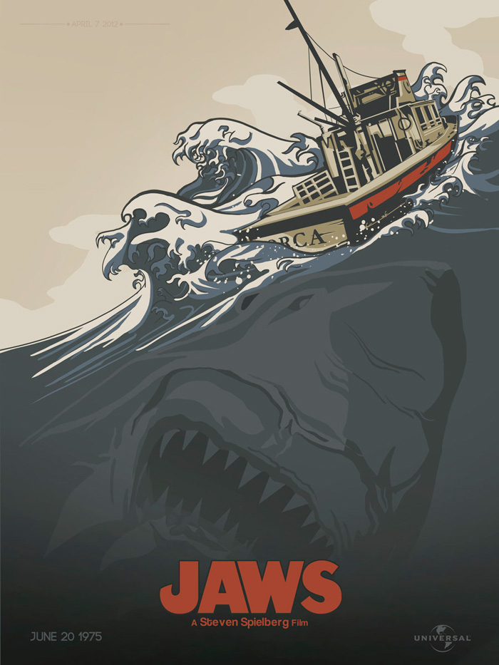 Alternative Movie Poster For Jaws By Kyle Brown