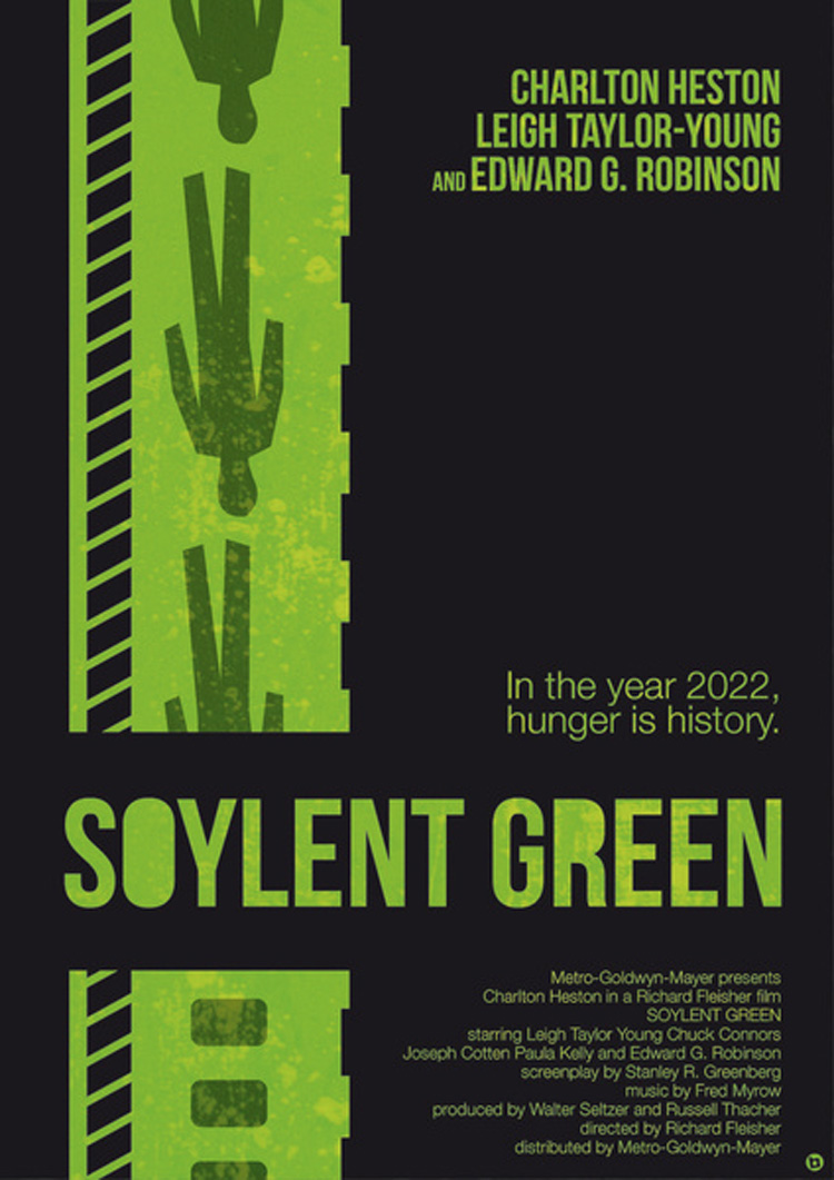 Alternative movie poster for soylent green by alain bossuyt for Soylent green is people