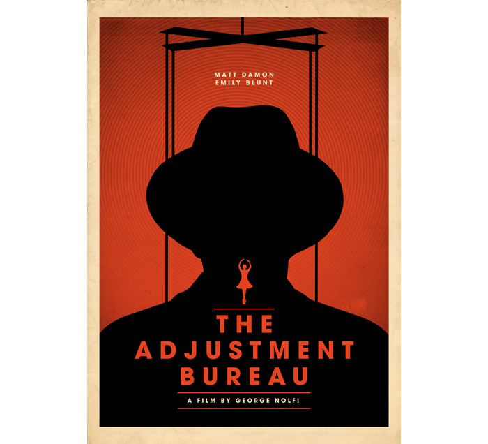 alternative movie poster for the adjustment bureau by matt needle. Black Bedroom Furniture Sets. Home Design Ideas