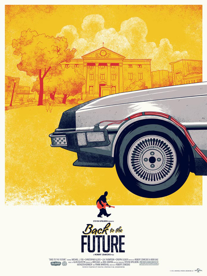 Back to the future movie poster original
