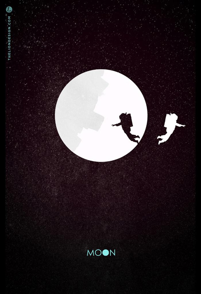 Alternative Movie Poster for Moon by Jason Heatherly