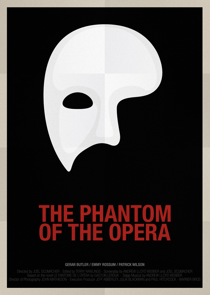 Alternative movie poster for The Phantom of the Opera by ...