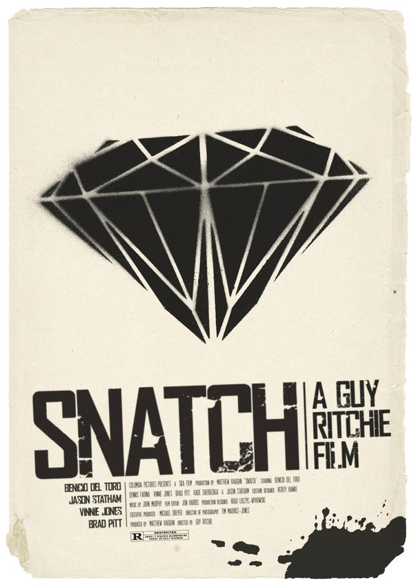 alternative movie poster for snatch by henrik oistad