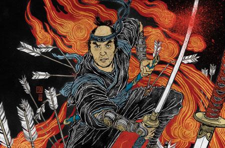 alternative movie poster for 13 assassins by yuko shimizu