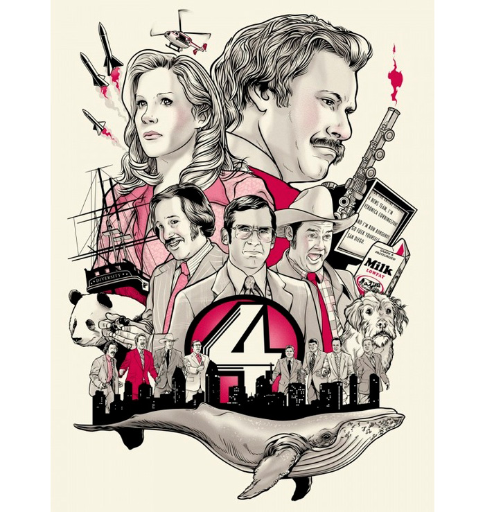 alternative movie poster for anchorman by joshua budich