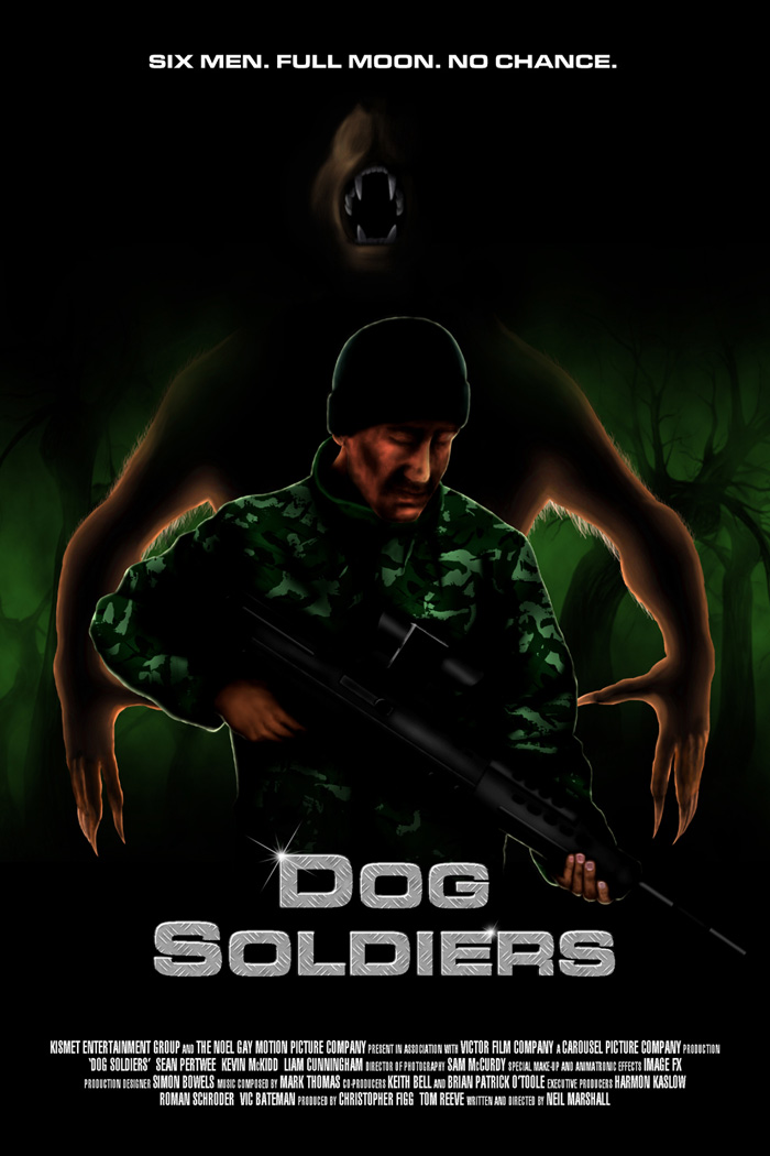 Alternative movie poster for Dog Soldiers by Ferenc Konya
