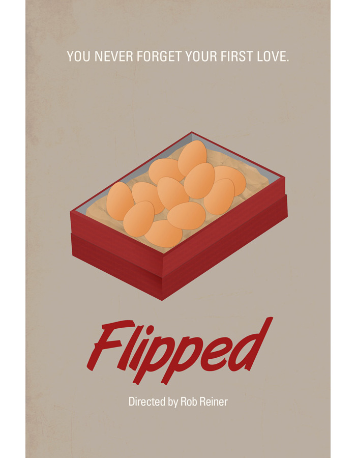 Alternative movie poster for Flipped by Chay Lazaro