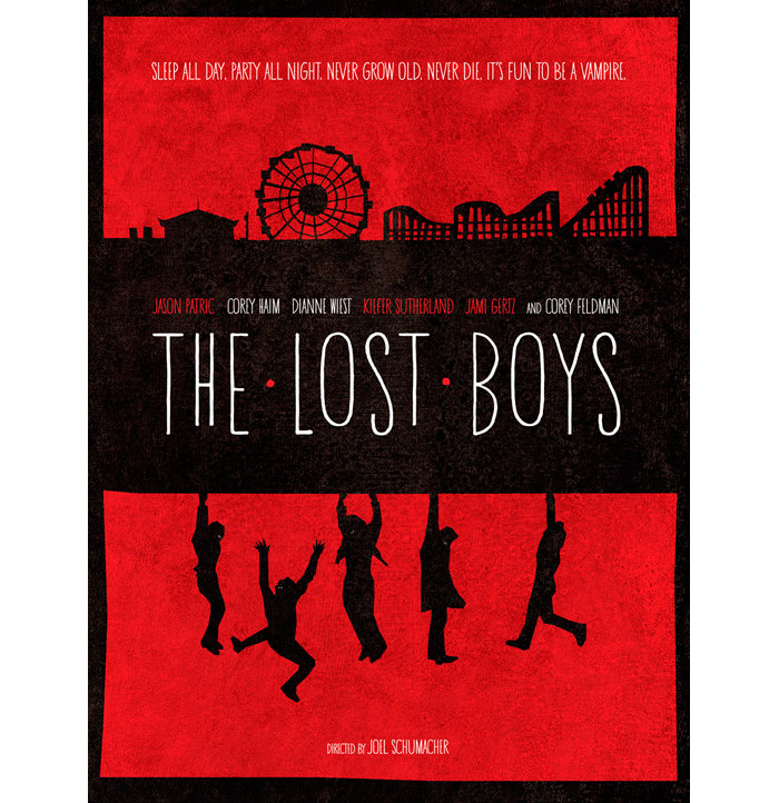 Alternative Movie Poster For The Lost Boys By Wonderbros