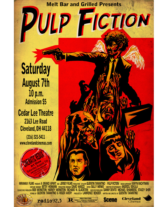 alternative movie poster for pulp fiction by chod
