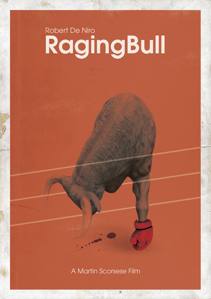 Alternative movie poster for Raging Bull by Me, Myself and I