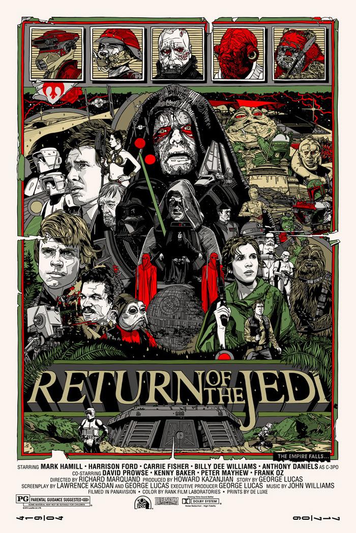 alternative movie poster for star wars episode vi return. Black Bedroom Furniture Sets. Home Design Ideas