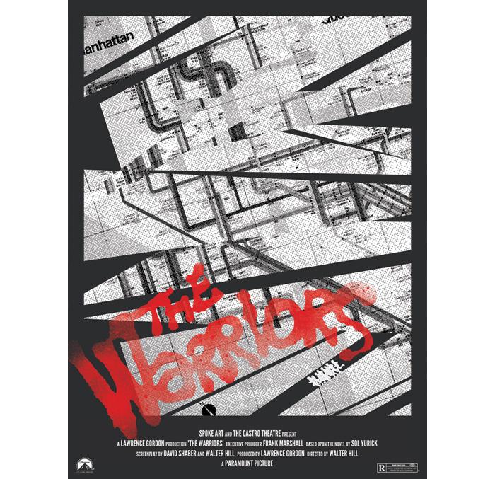 Warriors Subway Map.The Warriors By Brandon Schaefer