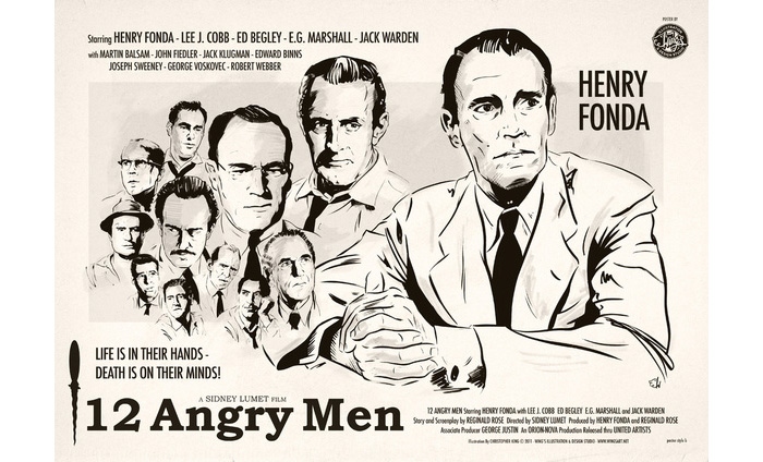 leadership of juror 8 in 12 angry men film Leadership of juror 8 in 12 angry men film reginald rose's '12 angry men' brings 12 jurors together in a room to decide whether a young foreign boy is guilty of killing his father the play is interwoven with dynamic characterisation, striking symbolism and intense moments of drama.