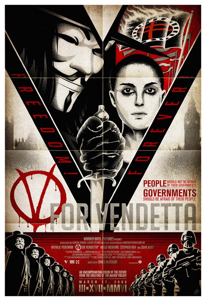 V For Vendetta Movie Poster Alternative Movie Post...