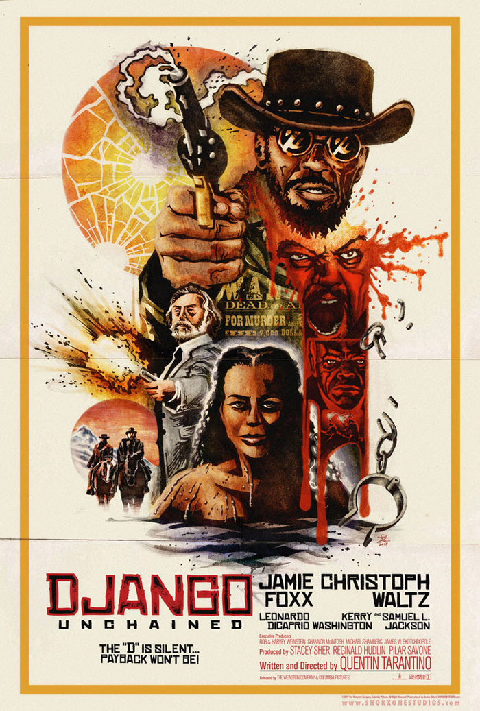 Alternative movie poster for Django Unchained by ...