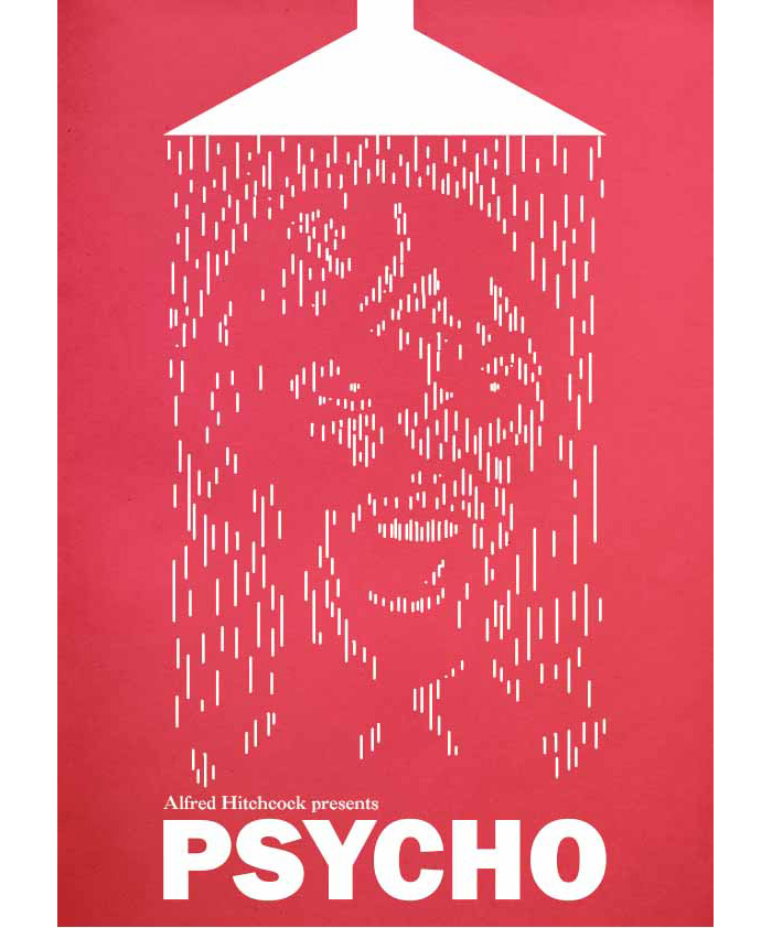 Alternative Movie Poster For Psycho By Ian Coupland