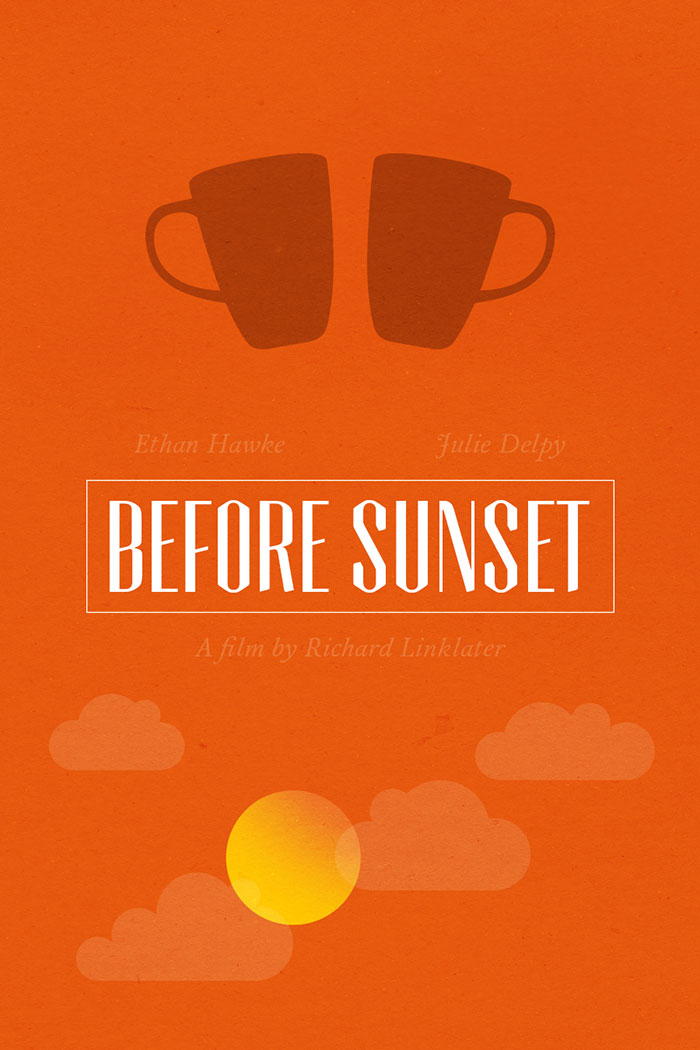 Alternative movie poster for Before Sunset by Chay Lazaro