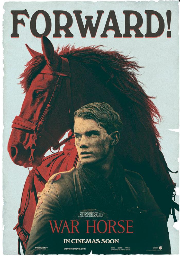 Alternative movie poster for War Horse by Scott Woolston