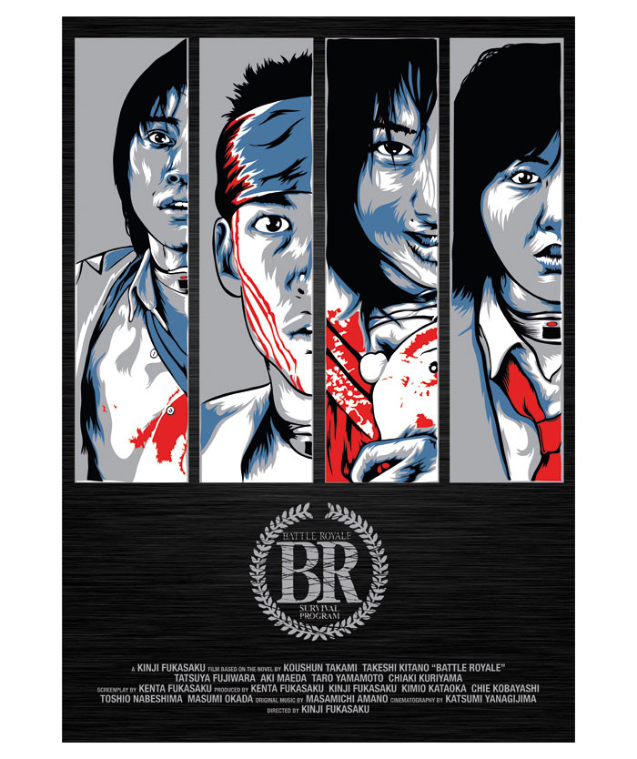 Alternative movie poster for Battle Royale by Heartstrand