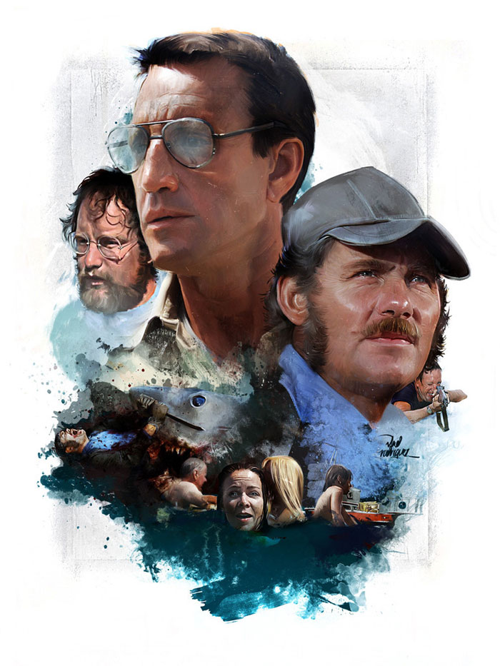 Jaws Movie Poster Art