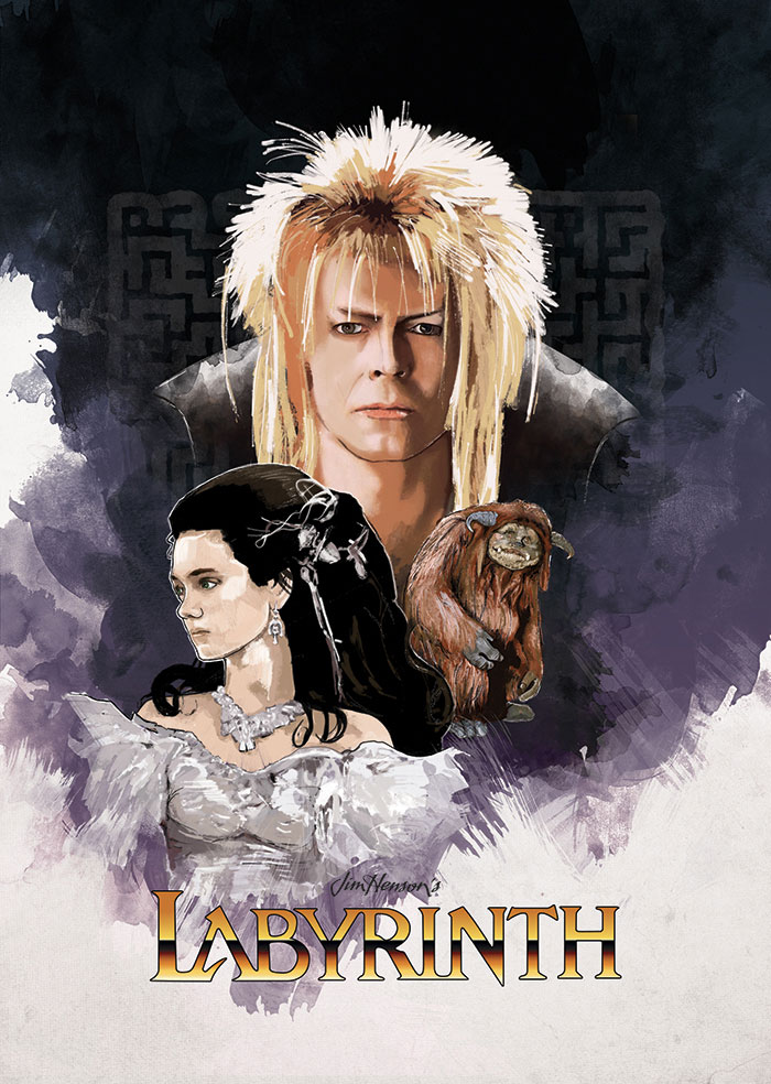 Alternative movie poster for Labyrinth by Paul Terry Labyrinth 1986 Poster