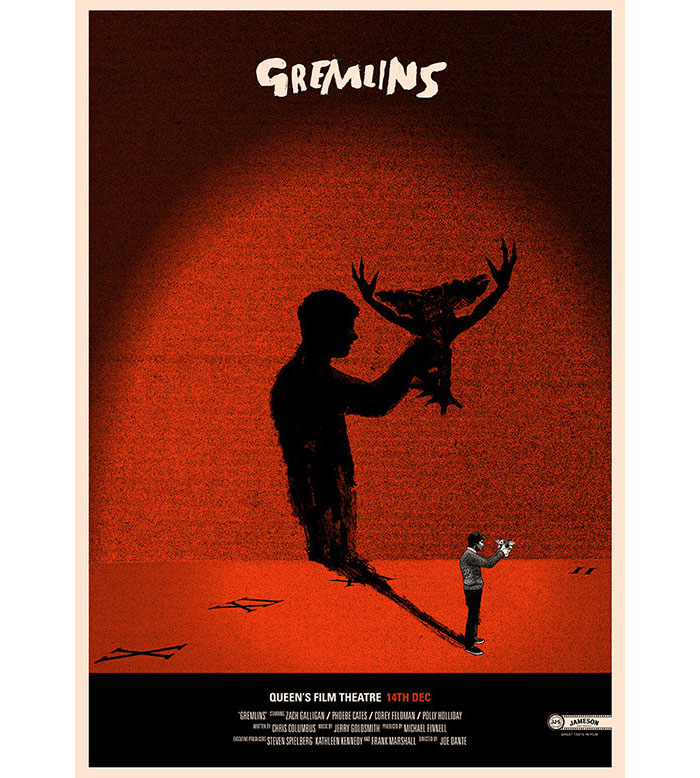 Alternative movie poster for Gremlins by Peter Strain