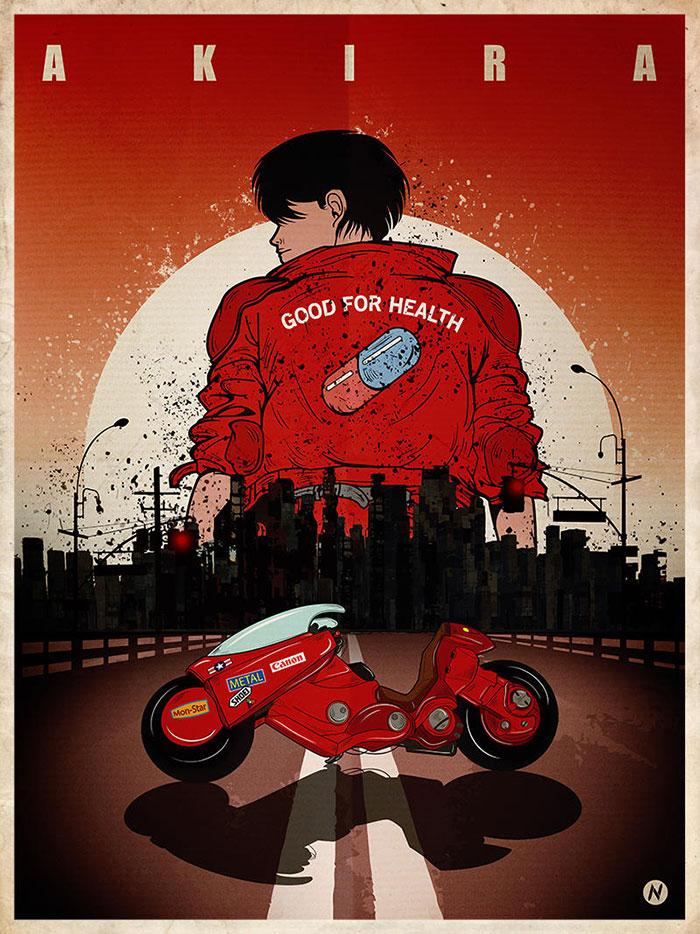 Akira movie poster framed
