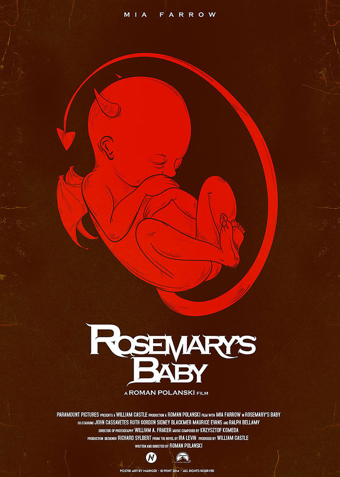 Rosemary's Baby Poster (1968)