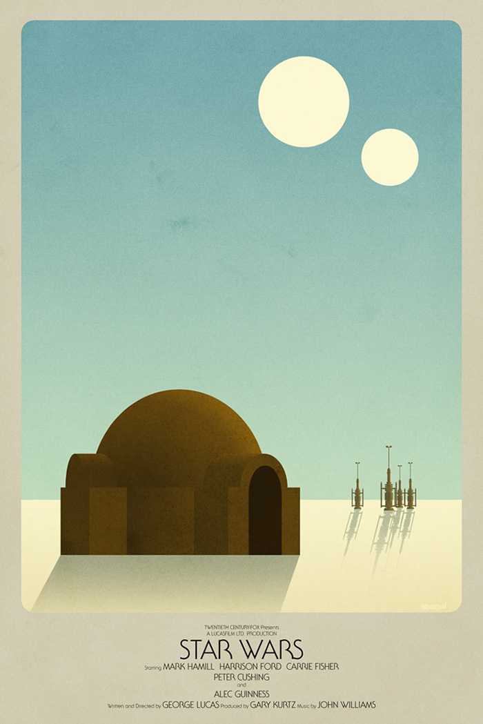 Star Wars Episode Iv A New Hope By Timothy Anderson Home Of The Alternative Movie Poster Amp