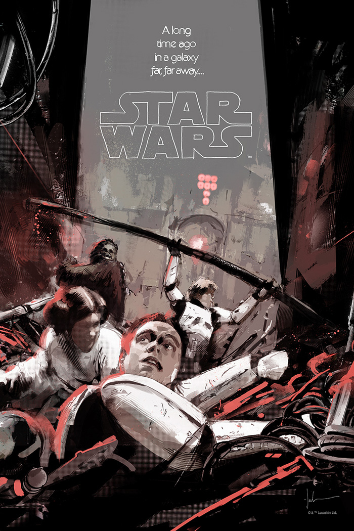Star Wars Episode Iv A New Hope By Jock Home Of The Alternative Movie Poster Amp