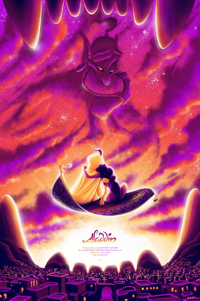 Aladdin Movie Poster Aladdin by Tom ...