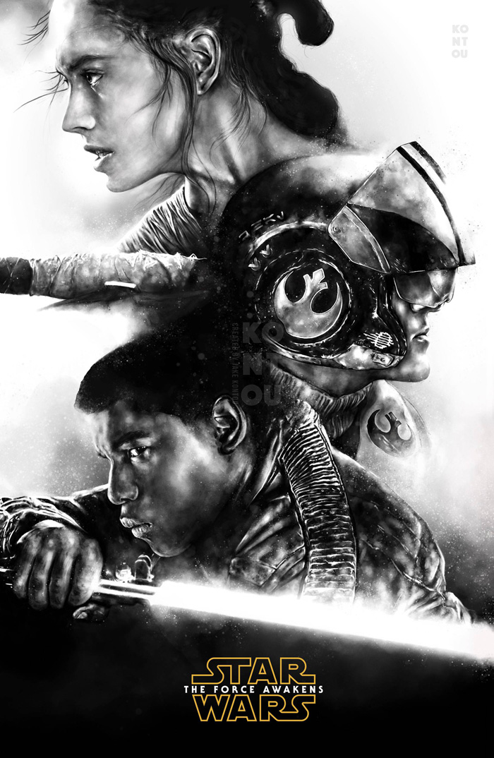 Star wars the force awakens by jake kontou