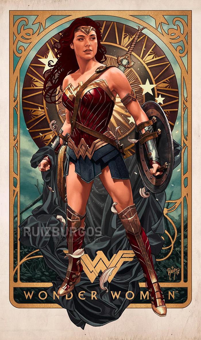 Wonder Woman by Ruiz Burgos - Home of the Alternative Movie Poster -AMP-