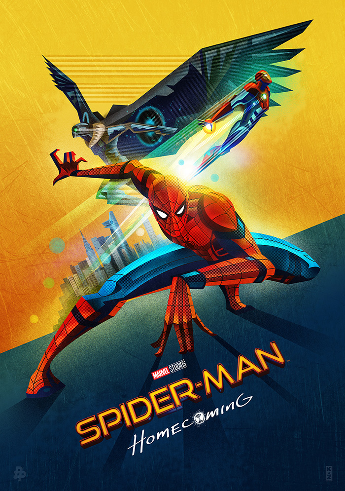 spider-man  homecoming by kaz oomori - home of the alternative movie poster