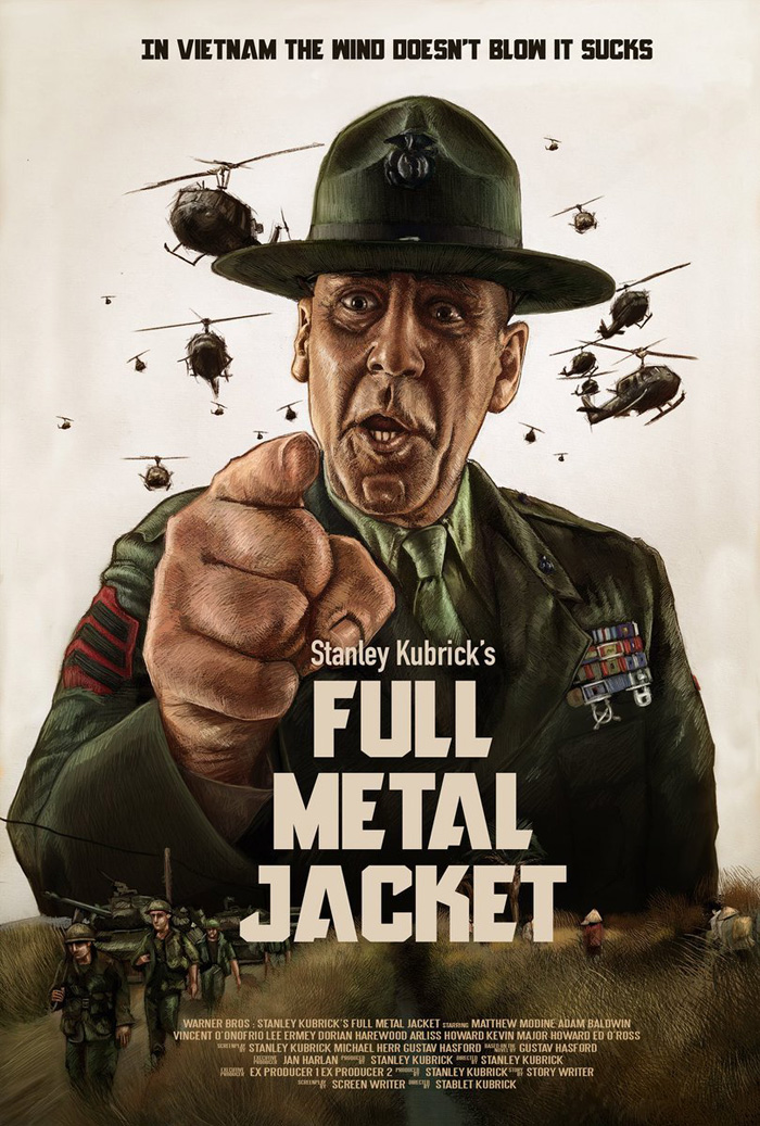 full metal jacket by albert collado home of the alternative movie poster amp. Black Bedroom Furniture Sets. Home Design Ideas