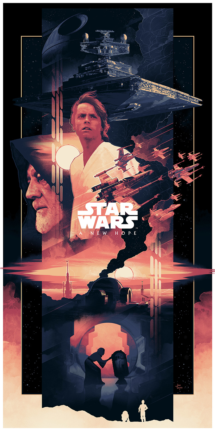 Star Wars Episode Iv A New Hope By John Guydo Home Of The Alternative Movie Poster Amp