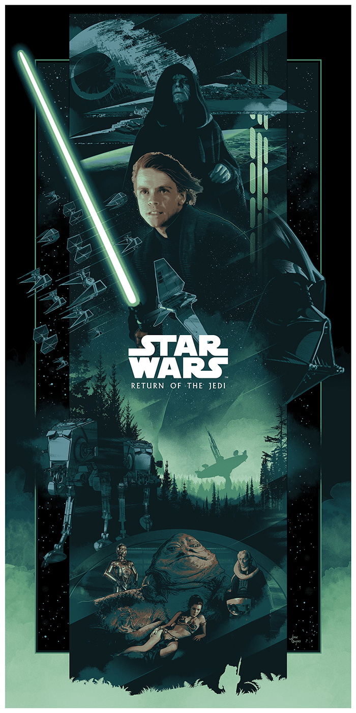 Star Wars Episode Vi Return Of The Jedi By John Guydo Home Of The Alternative Movie Poster Amp