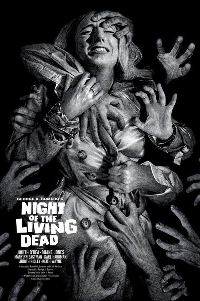 Night of the Living Dead by Elvisdead - Home of the Alternative Movie Poster -AMP-