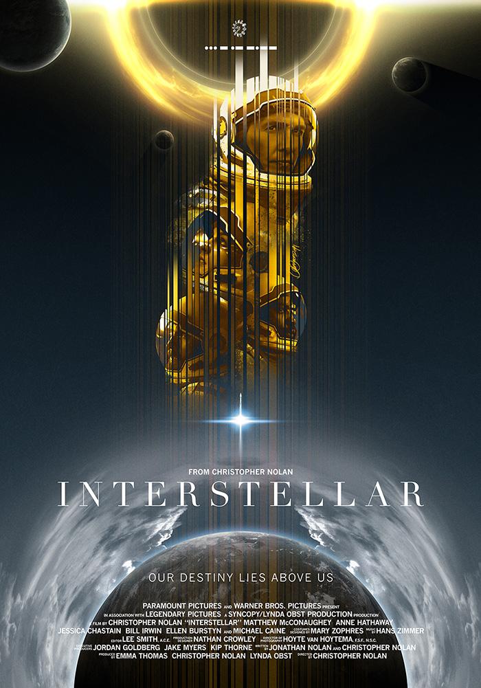 Interstellar Film Foto Poster Textless Film Kunst Matthew Mcconaughey 009