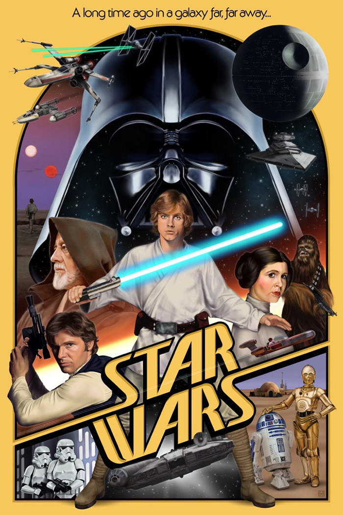Star Wars Episode Iv A New Hope By Haddon Mckinney Home Of The Alternative Movie Poster Amp