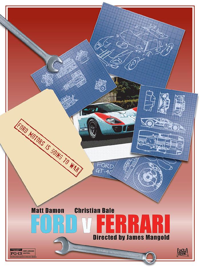 Ford V Ferrari Archives Home Of The Alternative Movie Poster Amp