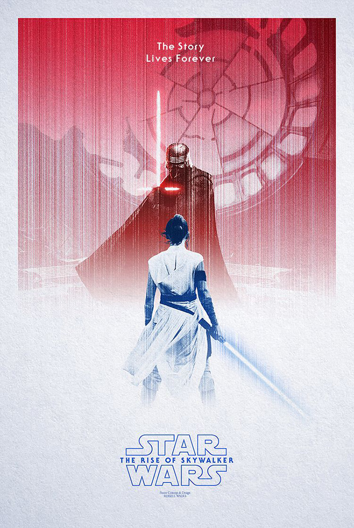 Star Wars The Rise Of Skywalker By Russell Walks Home Of The Alternative Movie Poster Amp