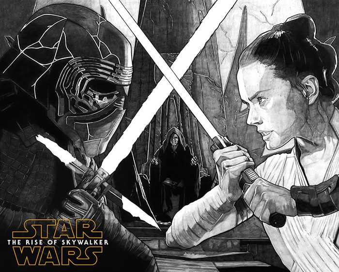 Star Wars The Rise Of Skywalker By Carles Ganya Home Of The Alternative Movie Poster Amp