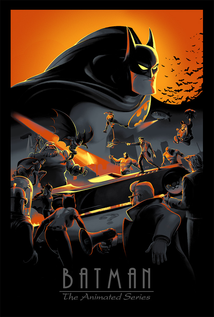 Batman: The Animated Series by Juan Ramos - Home of the Alternative Movie Poster -AMP-