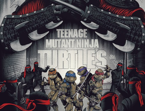 Teenage Mutant Hero Turtles (30×30 1989-90) by Benedict Woodhead